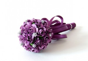 bukiet fiolet